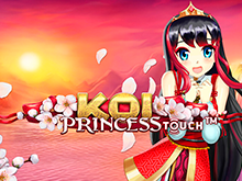 Японские символы и аниме-стиль в игровом автомате Koi Princess